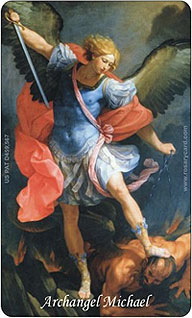 Archangel Michael Rosary Card