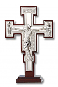 Sterling Silver San Damiano Cross w Base
